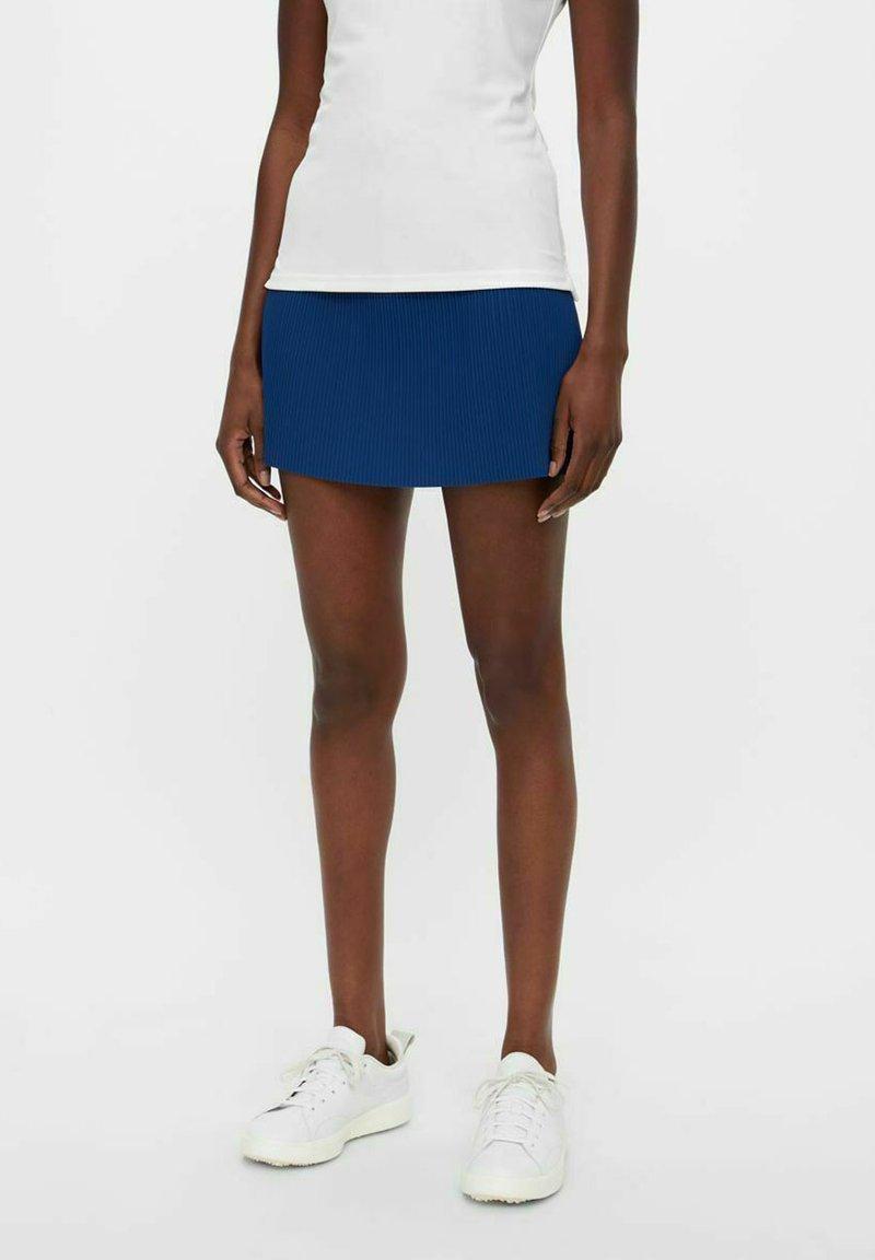 J.LINDEBERG - Pleated skirt - midnight blue
