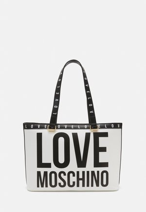 BIG LOGO SHOPPER - Handbag - bianco