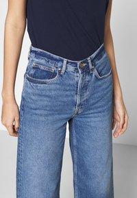 Even&Odd - Wide Leg Cropped jeans - Straight leg jeans - blue denim - 3
