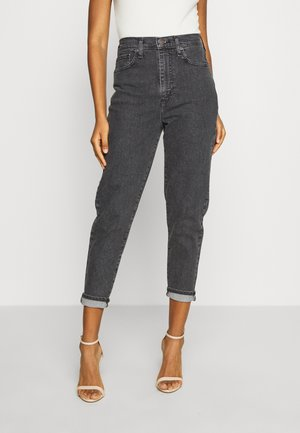 HIGH WAISTED TAPER - Jeansy Relaxed Fit - black denim