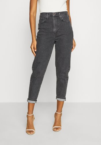 HIGH WAISTED TAPER - Jeans Tapered Fit - black denim