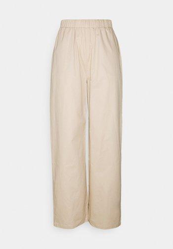 PULL ON STRAIGHT LEG PANTS - Trousers - beige