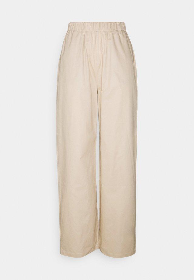 PULL ON STRAIGHT LEG PANTS - Broek - beige