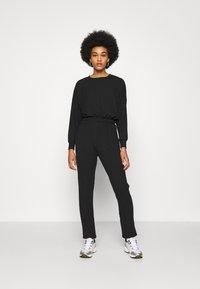 New Look - ELASTIC HEM SET - Sweatshirt - black - 0