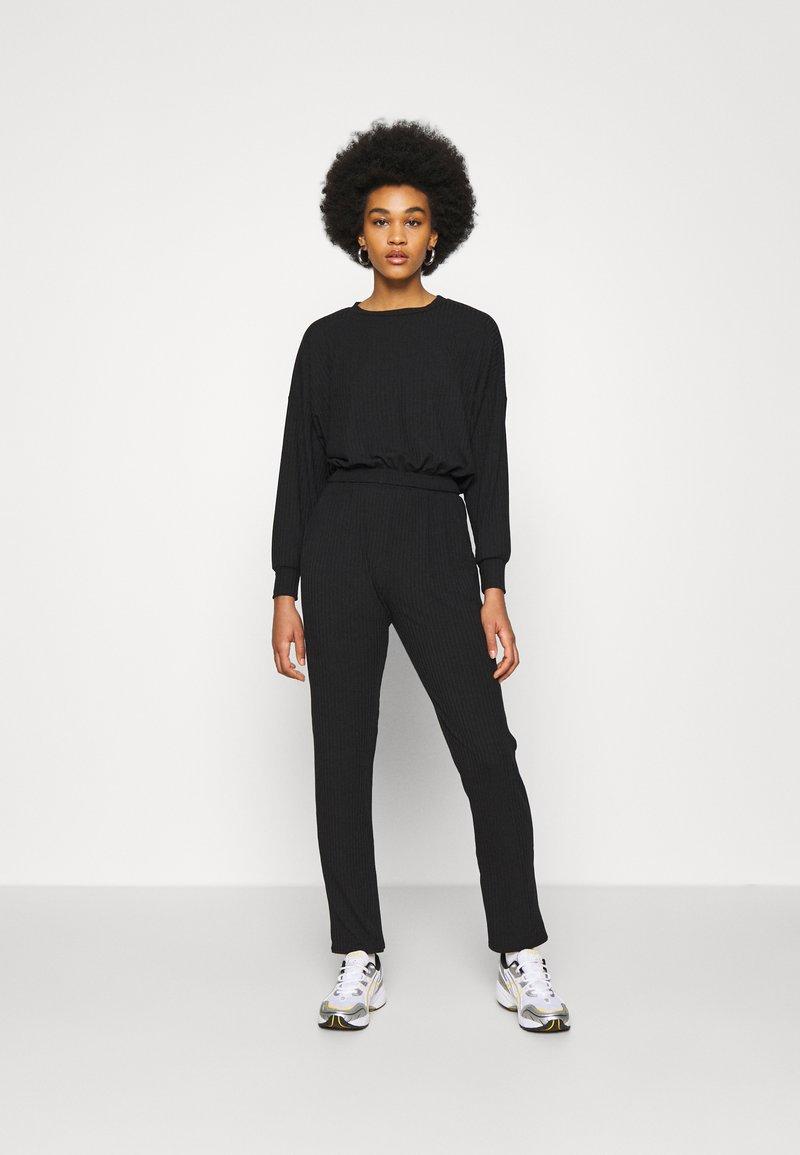 New Look - ELASTIC HEM SET - Sweatshirt - black