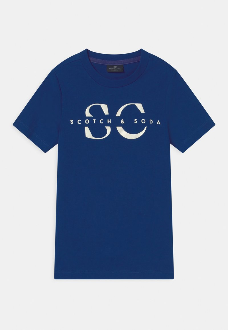 Scotch & Soda - LOGO - T-shirt z nadrukiem - yinmin blue