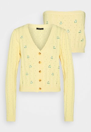 SARI SET - Cardigan - yellow