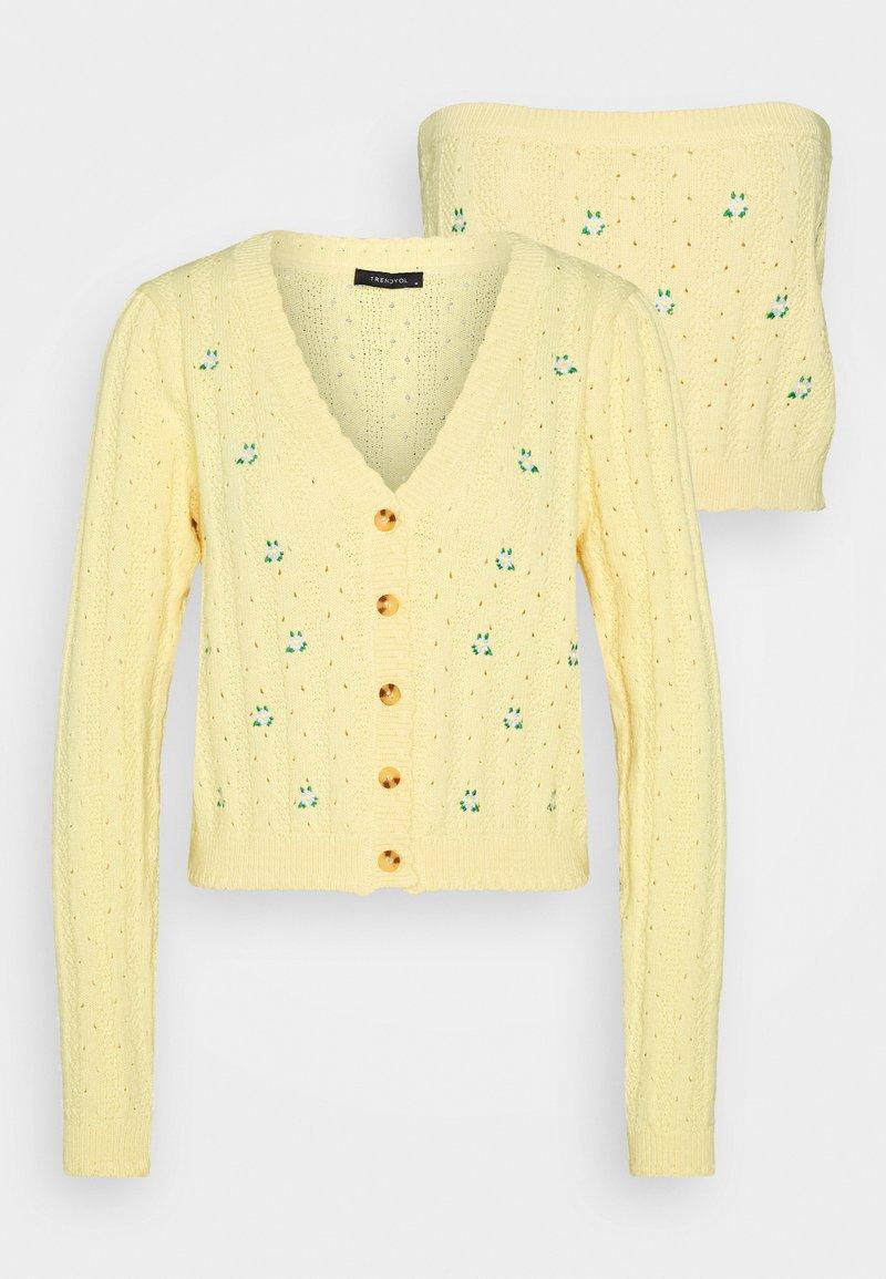 Trendyol - SARI SET - Cardigan - yellow