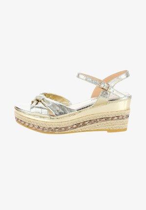 BIANCHI - Sandály na platformě - Platin