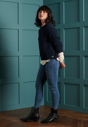 FREYA TWEED - Jumper - boston navy tweed