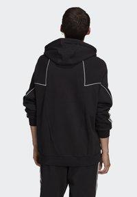 adidas Originals - BIG TREFOIL ABSTRACT HOODIE - Hoodie - black - 0