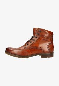 Bugatti - LUSSORIO - Lace-up ankle boots - cognac - 0