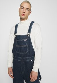 Tommy Jeans - DUNGAREE - Straight leg -farkut - save dark blue rigid - 3