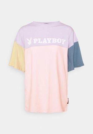 PLAYBOY COLOURBLOCK OVERSZIED  - Print T-shirt - multi