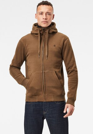 PREMIUM CORE ZIP THROUGH - Zip-up hoodie - wild olive