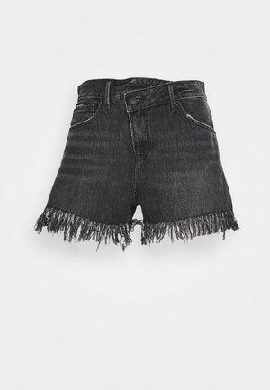 GOOD SHORT LONG FRAY HEM - Jeansshort - black