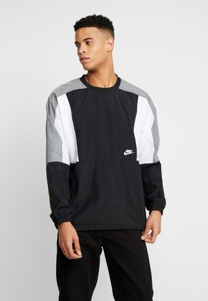 CREW - Training jacket - black/white/smoke grey