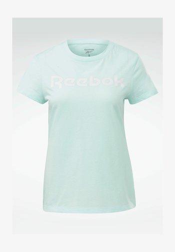 ESSENTIALS TRAINING SHORT SLEEVE GRAPHIC - T-shirt z nadrukiem - blue