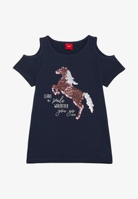 s.Oliver - Print T-shirt - dark blue - 2