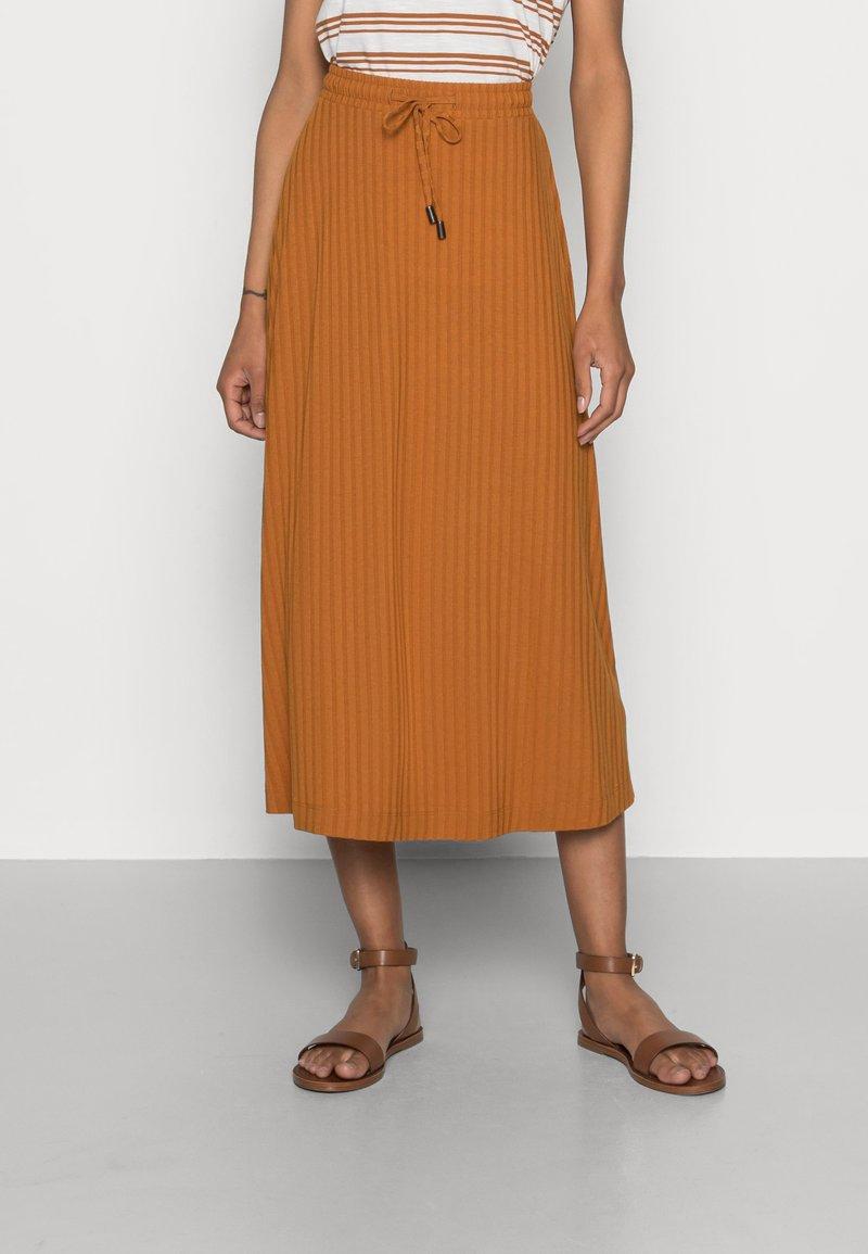 Esprit - SKIRT - A-line skirt - caramel