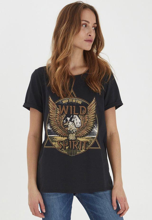 PZGUDRUN  - T-shirt con stampa - black beauty