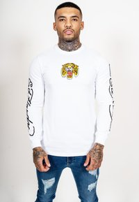 Ed Hardy - TIGER LOS LONG SLEEVE T-SHIRT - Long sleeved top - white - 0