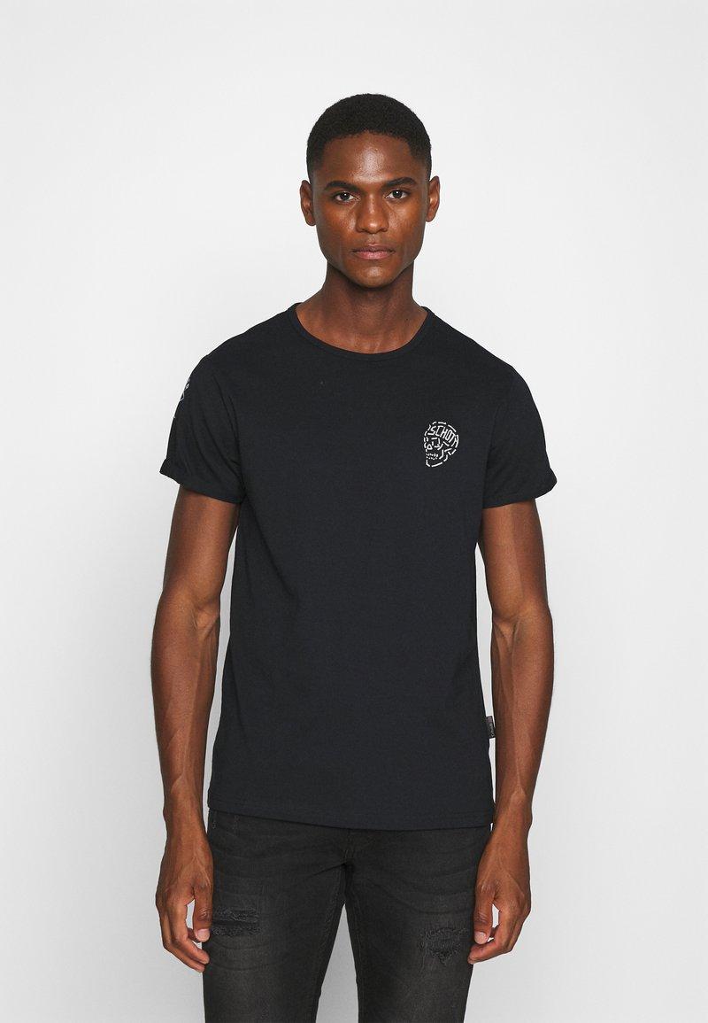Schott - Print T-shirt - black
