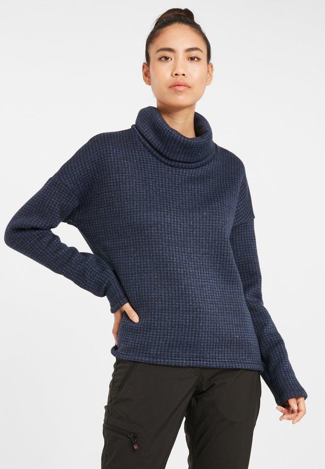Chillin™ Fleece Pullover - Maglione - dark nocturnal houndstooth print