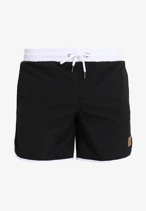 RETRO - Swimming shorts - black/white