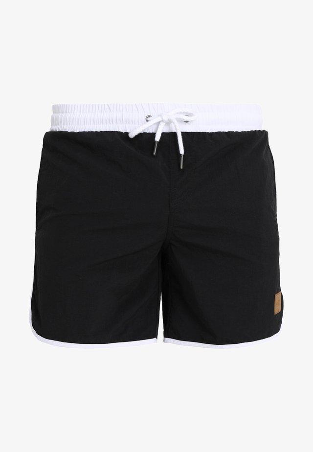 RETRO - Plavky - black/white