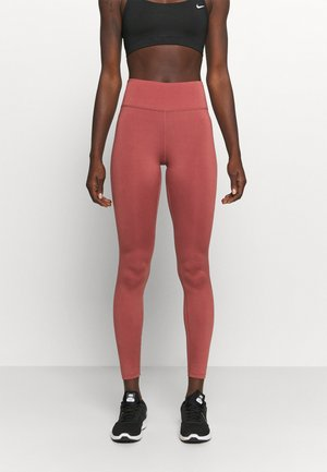 ONE GOOD - Leggings - claystone red/gold