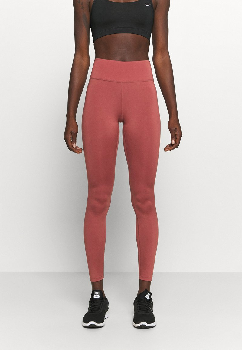 Nike Performance - ONE GOOD - Leggings - claystone red/gold
