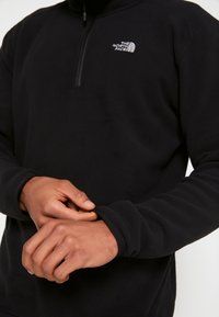 The North Face - GLACIER 1/4 ZIP - Bluza z polaru - black - 7