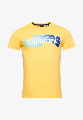 Print T-shirt - springs yellow