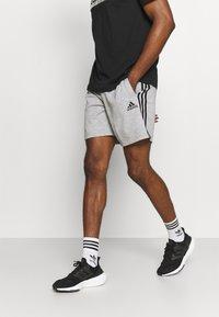 adidas Performance - Sports shorts - medium grey heather/black - 0