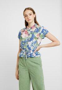 Rolla's - ELLA ROSE GARDEN BLOUSE - Button-down blouse - blue - 0