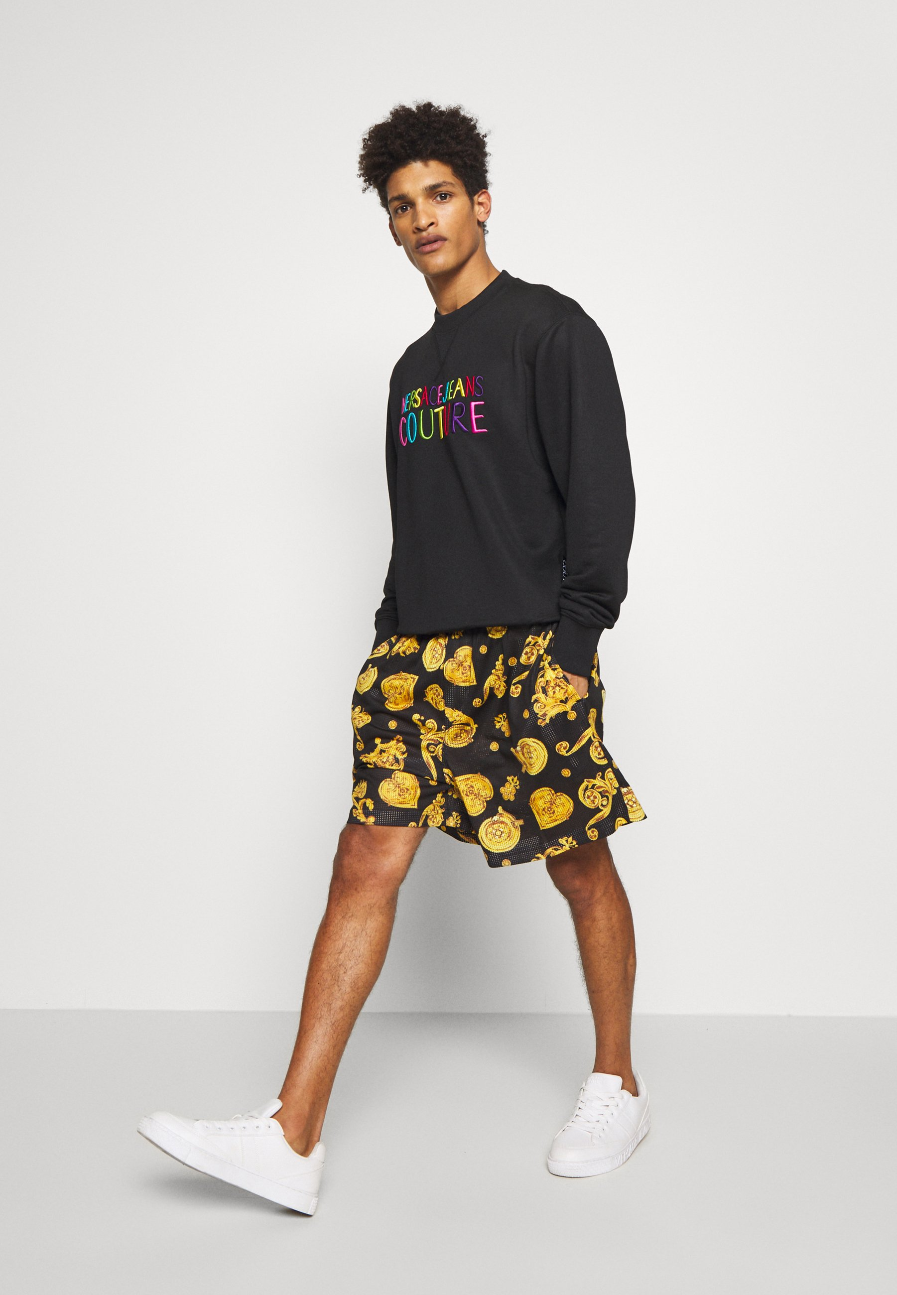 Versace Jeans Couture FRONT LOGO GIOIELLI PRINT - Short - black