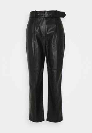 FAYDEL - Trousers - black