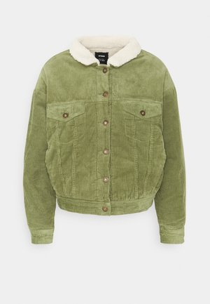 SHEARLING TRUCKER - Light jacket - olive green