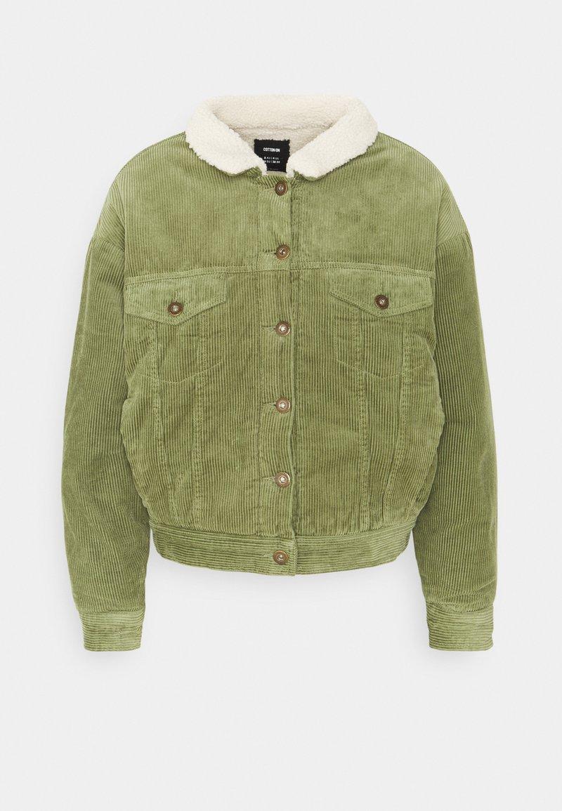 Cotton On - SHEARLING TRUCKER - Light jacket - olive green