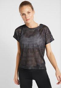 Desigual - TEE STRIPES PATCH - Print T-shirt - dark green - 0