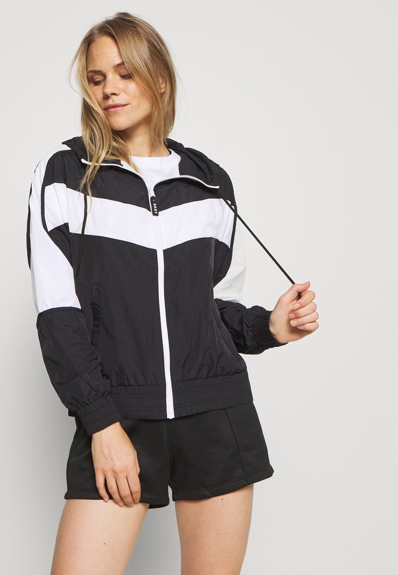 DKNY - COLORBLOCKED TRACK JACKET - Training jacket - black