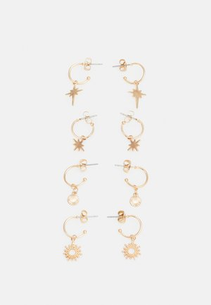 PCLUCIA EARRINGS 4 PACK - Boucles d'oreilles - gold-coloured