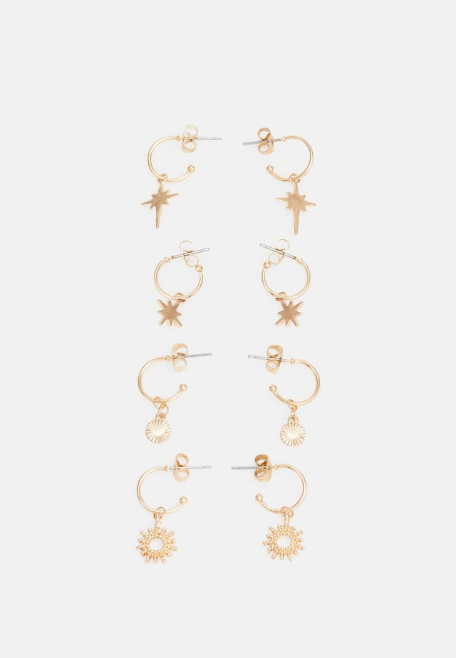 PCLUCIA EARRINGS 4 PACK - Øredobber - gold-coloured