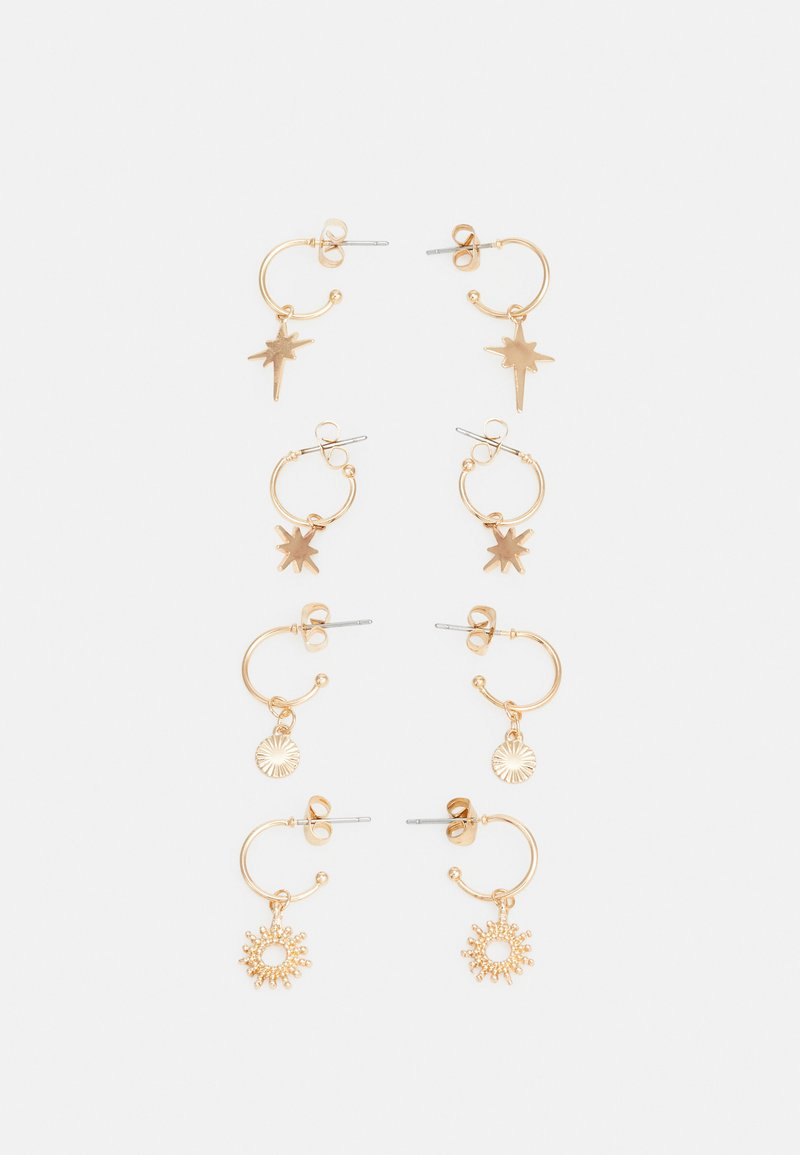 Pieces - PCLUCIA EARRINGS 4 PACK - Oorbellen - gold-coloured