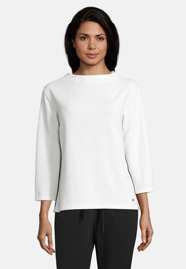 MIT STEHKRAGEN - Sweatshirt - rohweiß