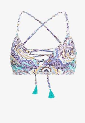 SUMMER CHINTZ FIXED TRI BRALETTE - Bikiniöverdel - antigua blue