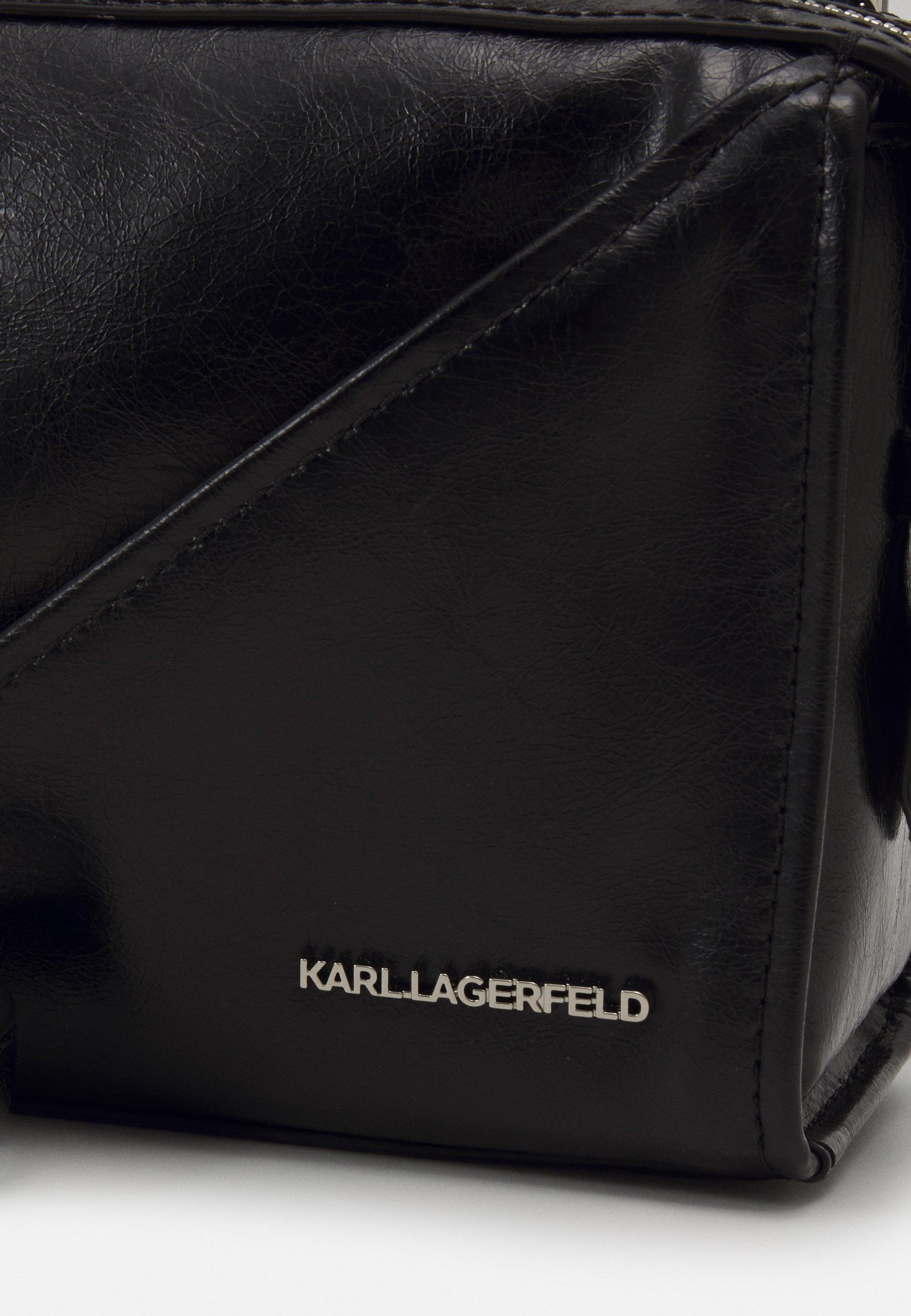 KARL LAGERFELD SLASH SMALL TOP HANDLE - Håndveske - black/svart fy0TyBomaaFgk8V