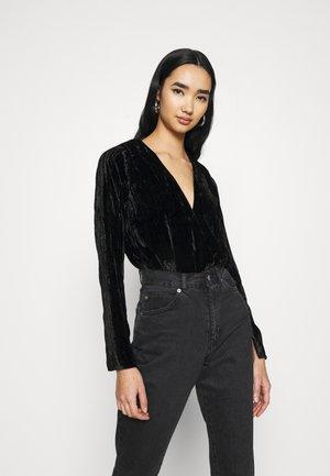 WRAP BODYSUIT - Print T-shirt - black