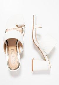 Head over Heels by Dune - JAYDEY - tåsandaler - white - 3